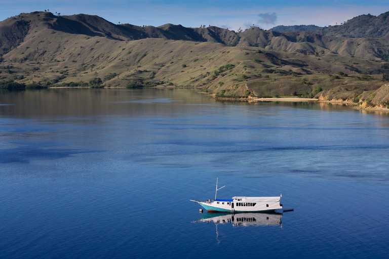 The blue sea of Komodo National Park