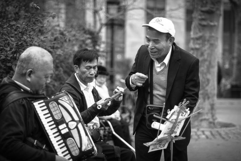 Musicians in Columbus Park