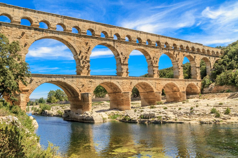 The Pont du Gard is amazing to look at and even better to swim under