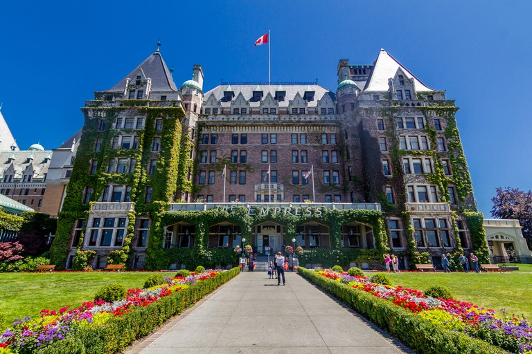 The ivy-covered Fairmont Empress