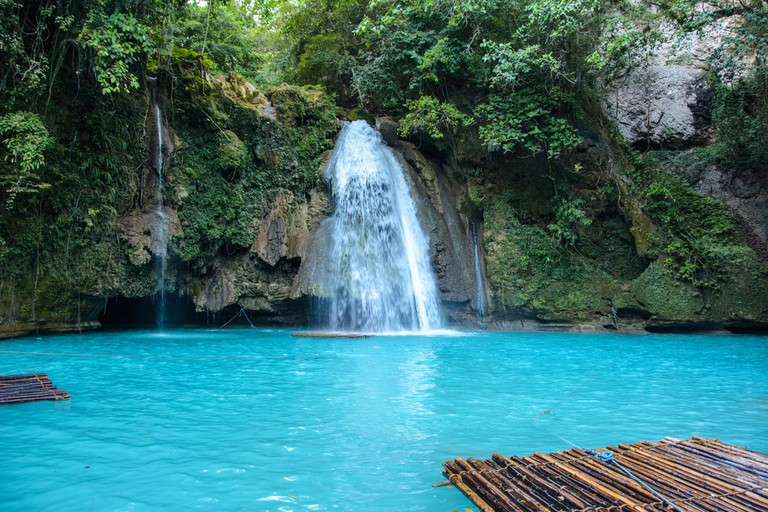Kawasan Falls on Cebu island in Philippines