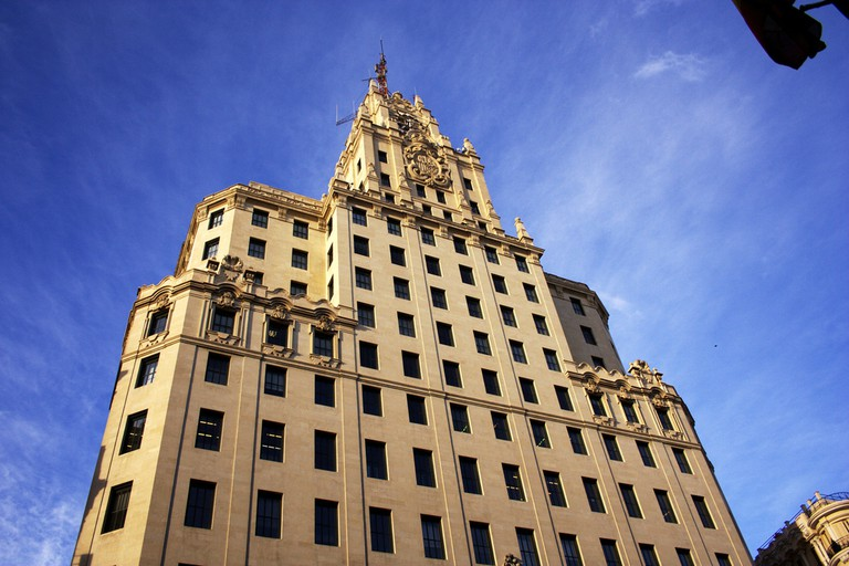 Madrid's Telefónica Building, from where Hemingway sent his reports during the Spanish Civil War