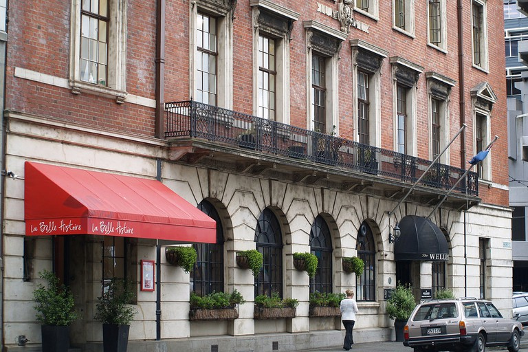 The former Wellesley Club building, now the Wellesley Boutique Hotel