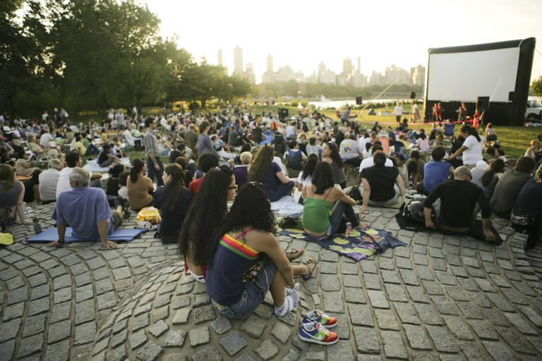 Outdoor Cinema, Courtesy of Socrates Sculpture Park