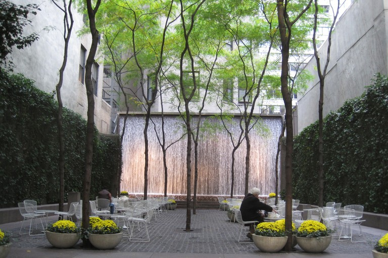 Paley Park, New York, 2010. Photograph