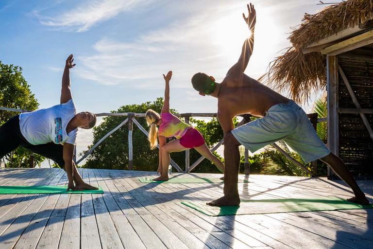 Yoga at Navutu Stars, Fiji