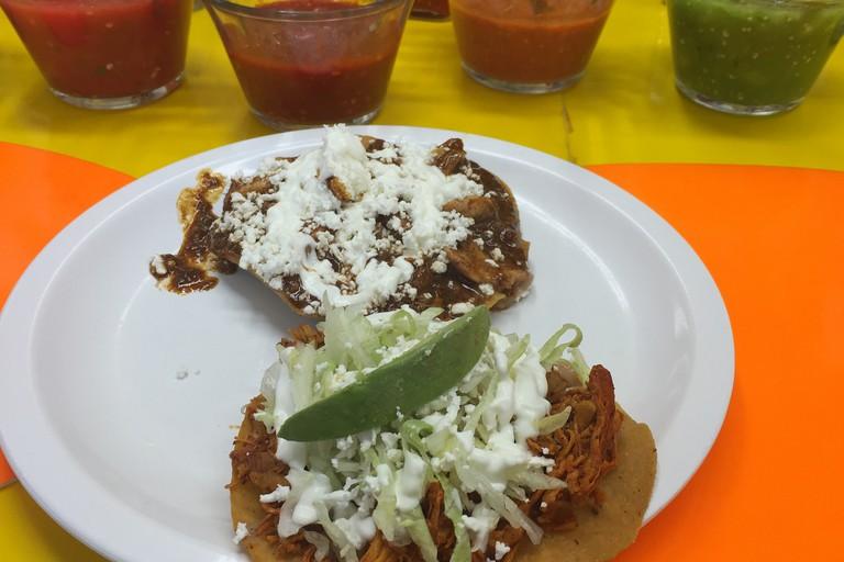Tostadas at Mercado Coyoacán