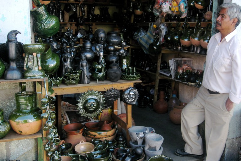 Ocotlán is one village that crafts both green and black pottery