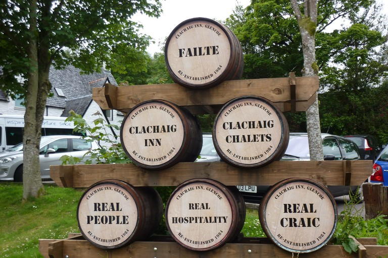 Clachaig Barrel Sign