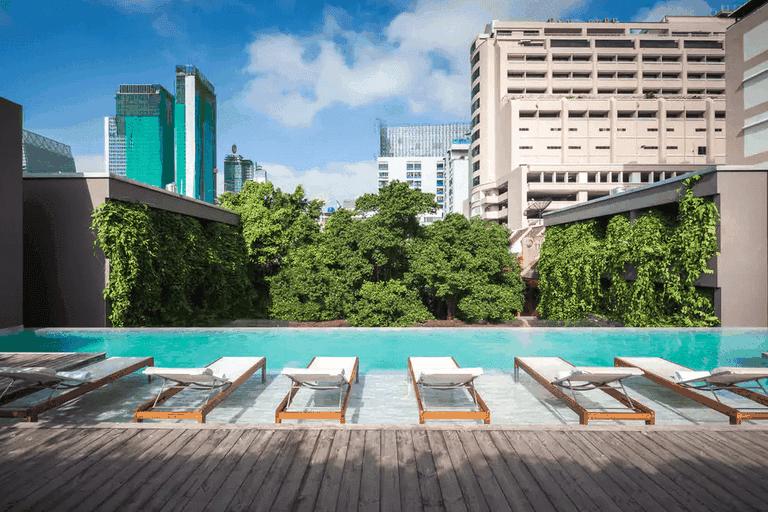 The rooftop infinity pool at Ad Lib Bangkok.