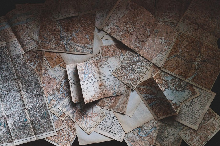 Take a break from your screen and pick up a map at The Travel Bookstore