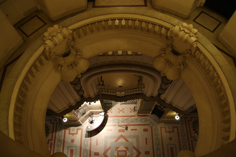 Looking down through purgatory in Palacio Barolo