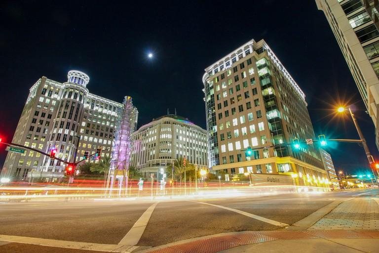Orlando City Hall at night
