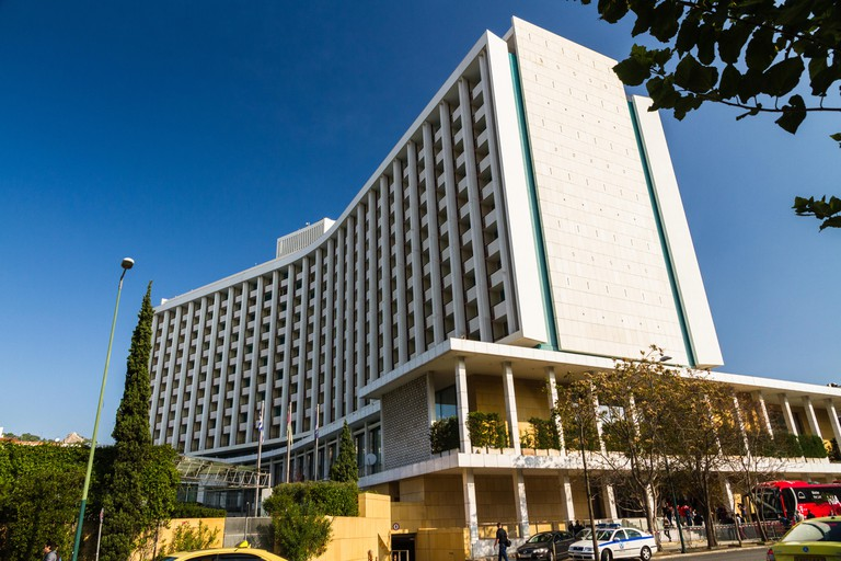 Athens, Greece ? October 24 The Hilton Athens Hotel on October 24 2018 in Greece.