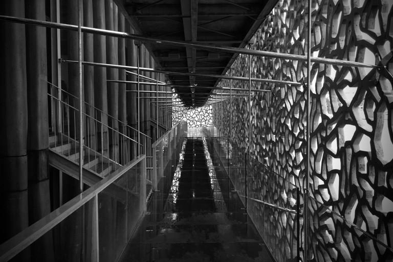 The walkways through the MUCEM in Marseille