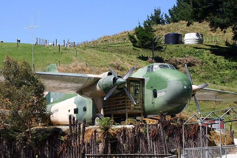 Bristol Freighter Airplane Unit at Woodlyn Park, Waitomo