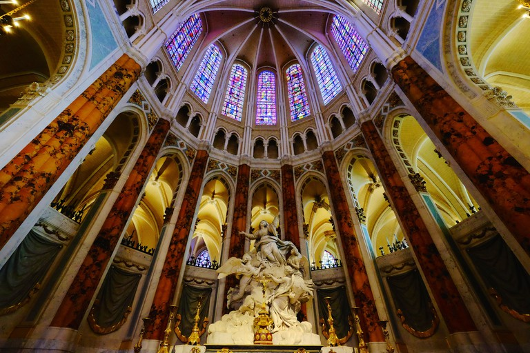 Chartres Cathedral's world-famous stained glass windows