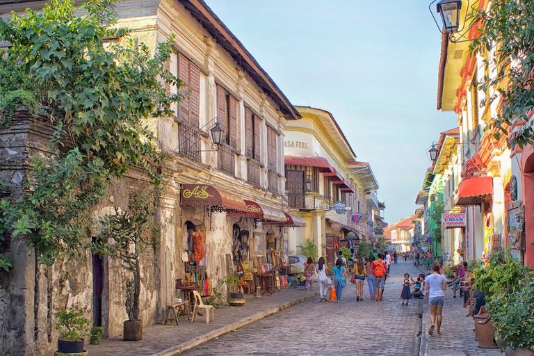 Calle Crisologo in Vigan, Philippines