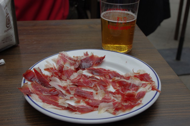A plate of Jamon Ibérico