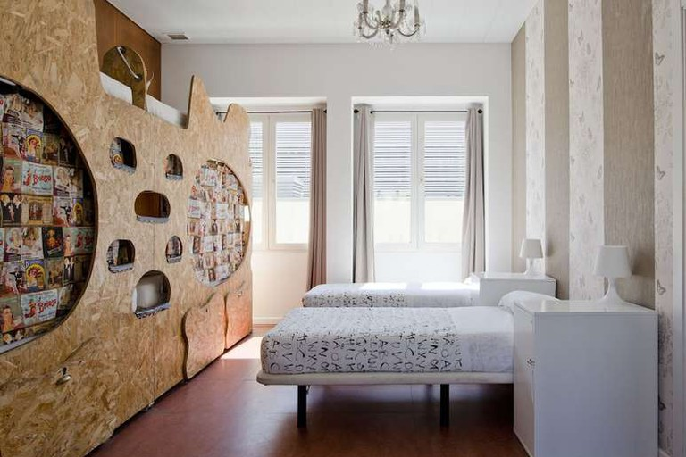 Single dorm at Sunset Destination Hostel