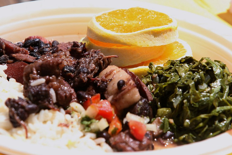 Feijoada, a typical Brazilian dish