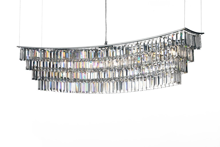 Contemporary crytal chandelier from Lampister, Valencia.
