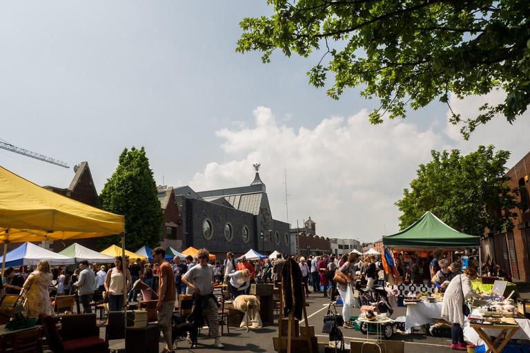 The Dublin Flea Market in Newmarket Square