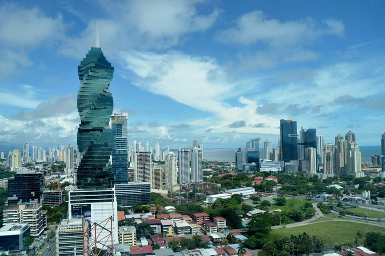 The view over Panama City's financial district