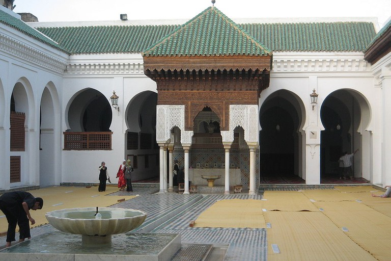 Inside the Kairaouine Library and Mosque complex