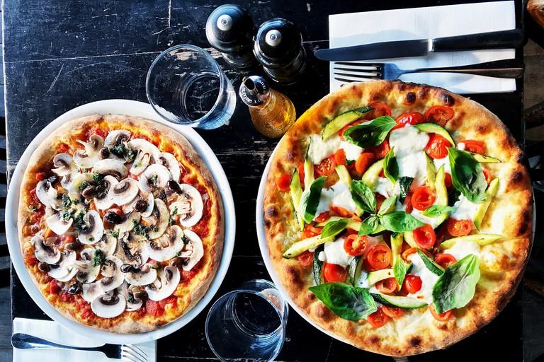 Pizzas at Grazie
