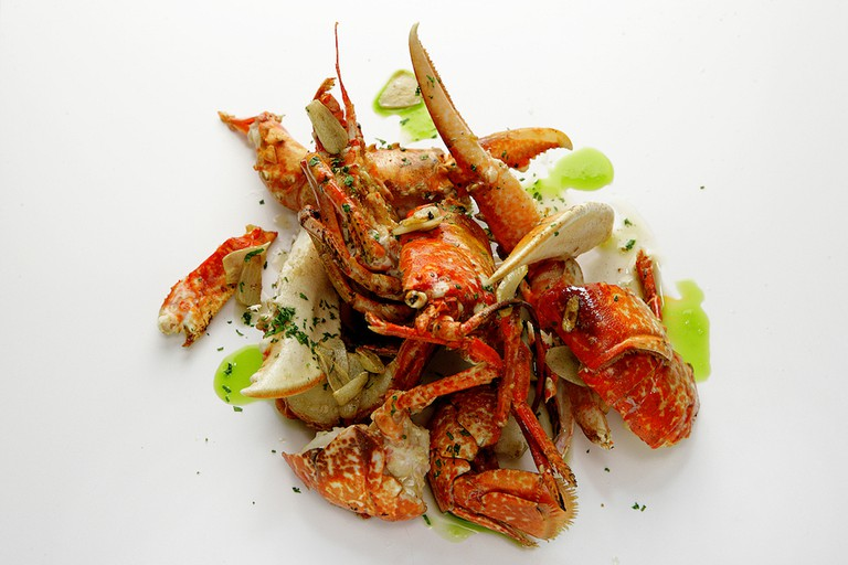 A creative lobster dish Courtesy of Rías de Galicia