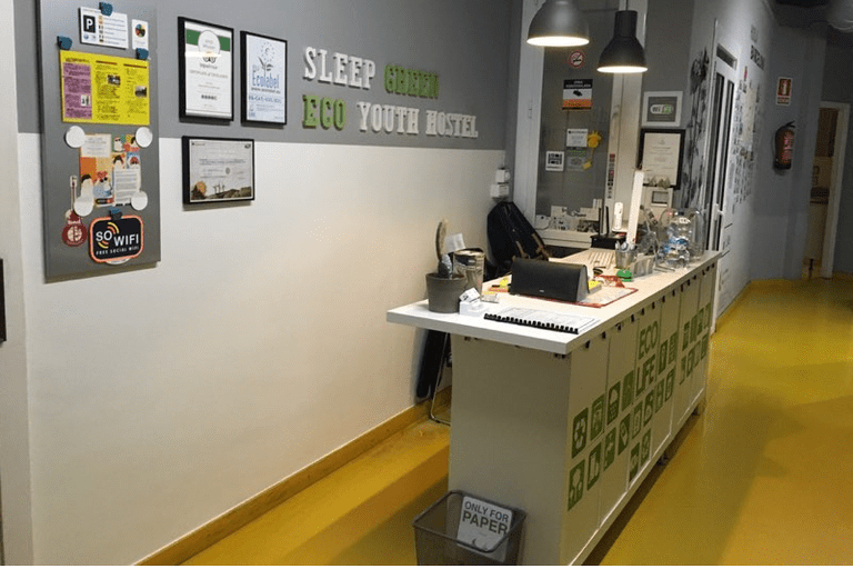 Welcome to Barcelona's premier green hostel Courtesy of Sleep Green Hostel