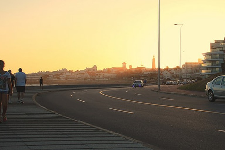 View from the Boulevard at Pocitos, Montevideo, Uruguay.