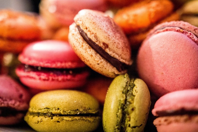 Assortment of colourful macaroons
