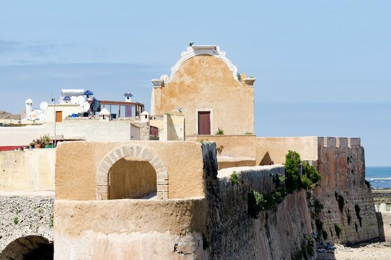 Imposing walls of El Jadida's fortress