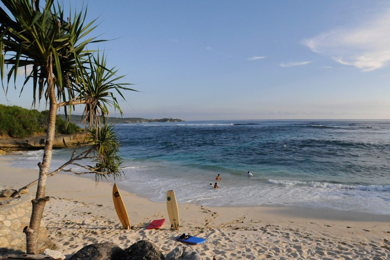 A beach in Nusa Lembongan