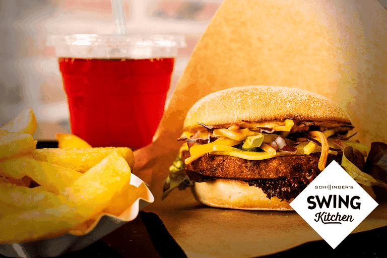 Cheeseburger at Swing Kitchen