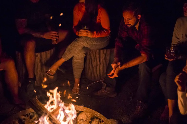 Campfire stories at The Brampton