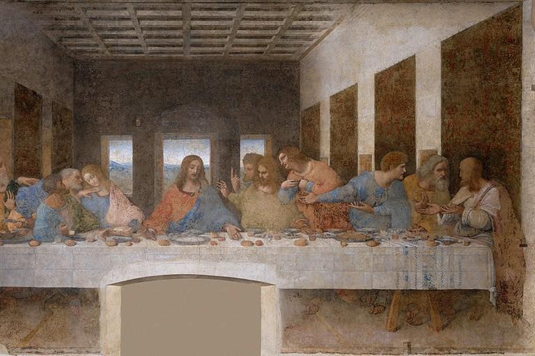 Leonardo da Vinci, The Last Supper (1498)   Source: WikiCommons