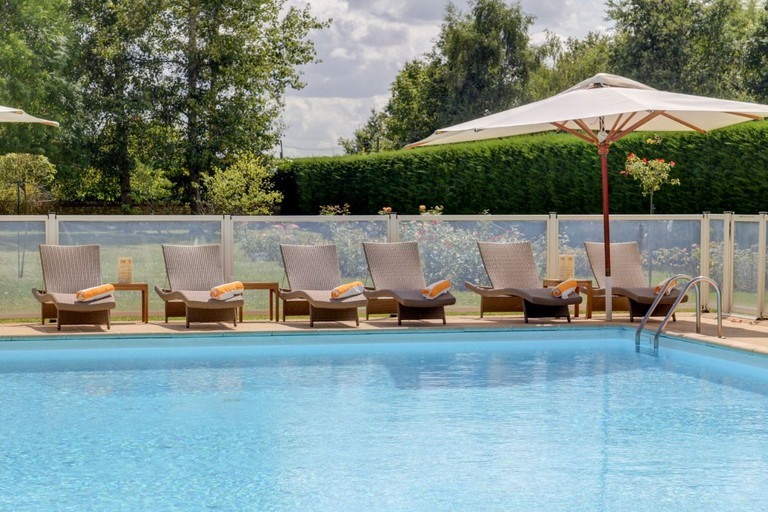 The pool at Domain des Hauts de Loire