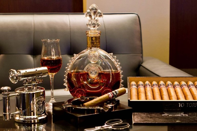 Premium spirits and Cuban cigars