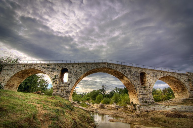 The bridge Julien in the Vaucluse region in the Luberon