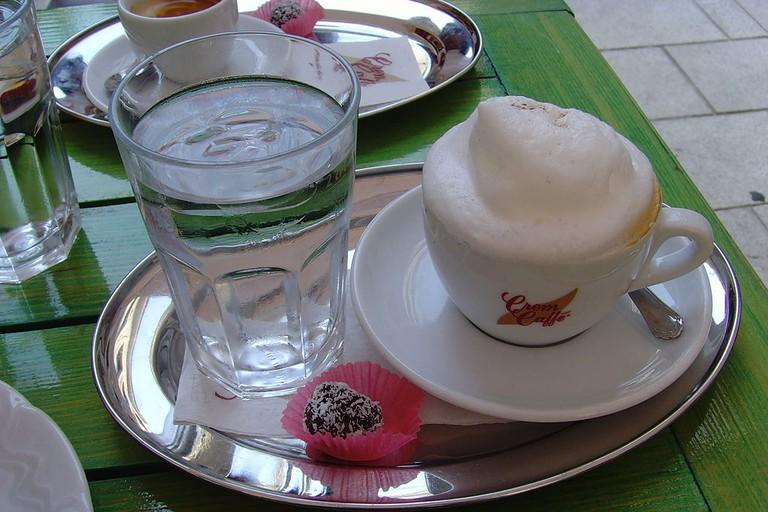 Cappuccino in Sarajevo