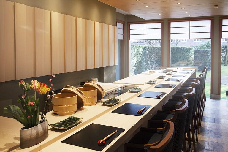 Yamazato' sushi counter