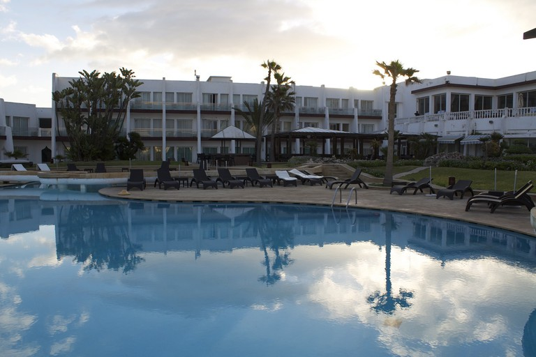 Pool and grounds of Hotel Casablanca Le Lido Thalasso