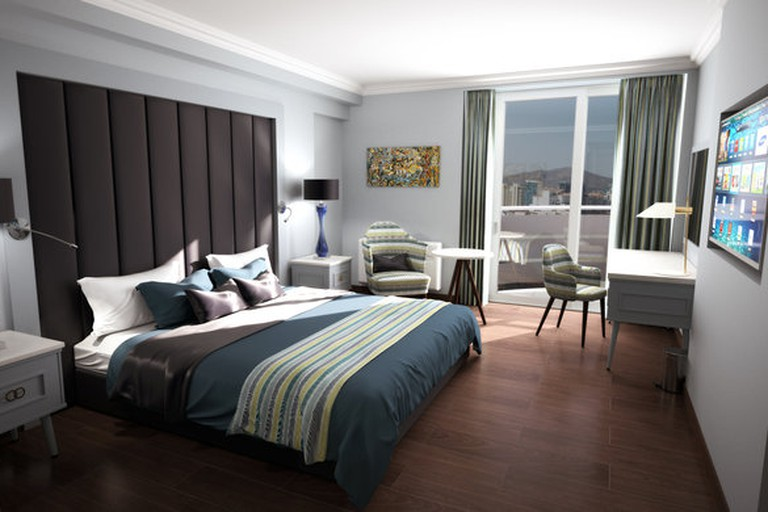 """One of the new """"Journey"""" rooms at the Eliott"""