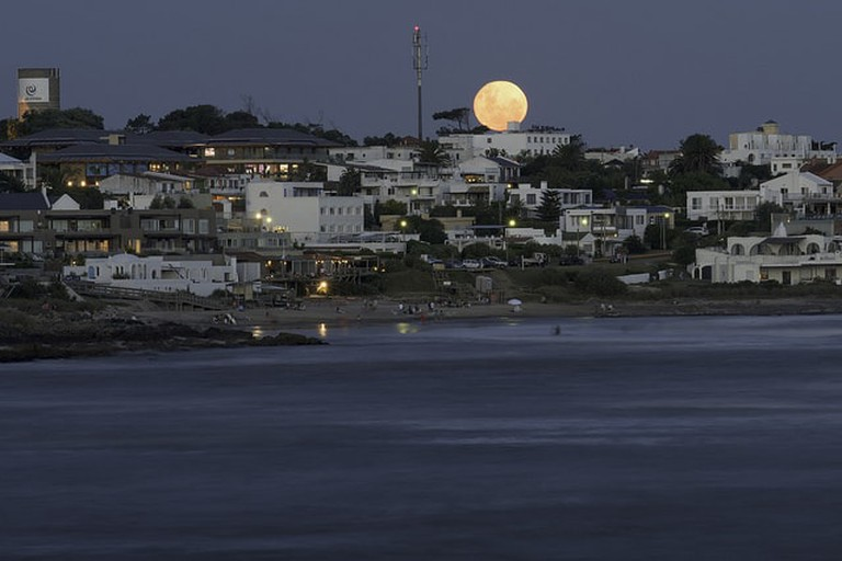 Moon rise over La Barra, Punta del Este