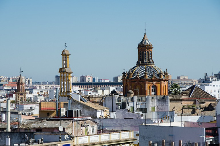 Enjoy views over Seville's rooftops from the jacuzzi at El Rey Moro
