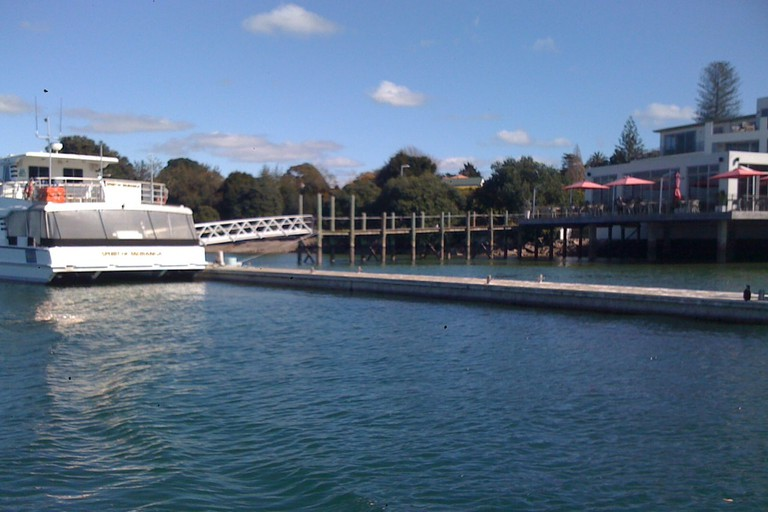 View of the Tauranga Harbour Outside the Trinity Wharf Hotel