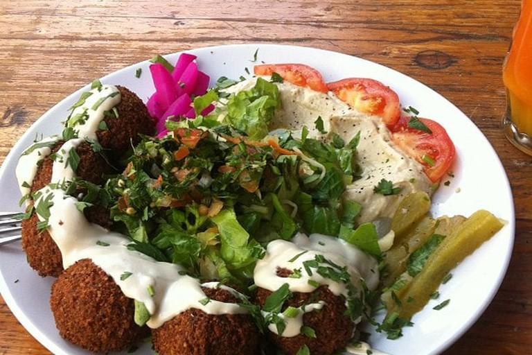 Well-deserved falafel